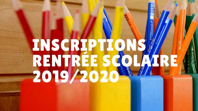 inscriptions scolaires2019 2020 af3e9
